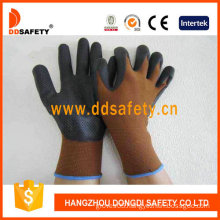 Brown Nylon with Black Nitrile Glove-Dnn710
